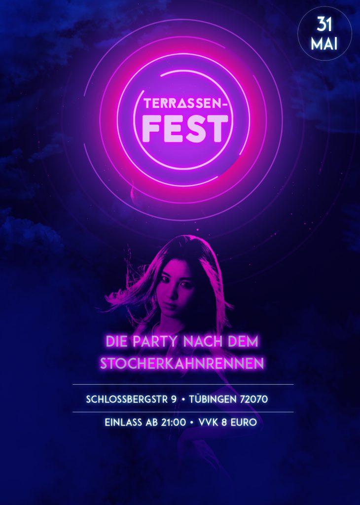 Terrassenfest 2018 Flyer A.V. Virtembergia Tübingen